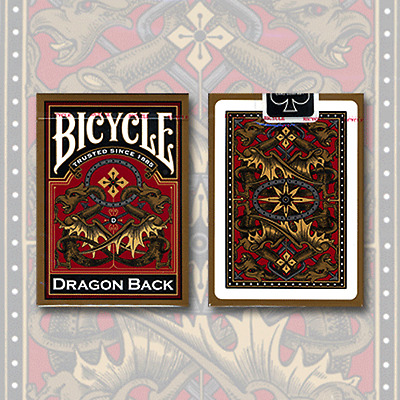 Bicycle Dragon Back Deck Playing Cards (Gold) by USPCC