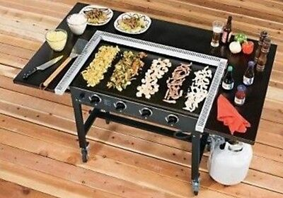 "Commerical Gas Griddle Flat Large Top 36"" 4 Burner Grill Cooking Station Camp"