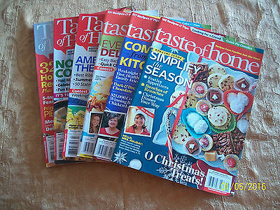 Taste of Home Magazines Lot 6 Back Issues 11 months 2013 Cooking Baking Food