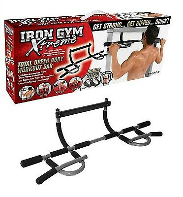 NEW Iron Gym Extreme Pull Up Push Up Sealed in Retail Box + Ab Straps Included