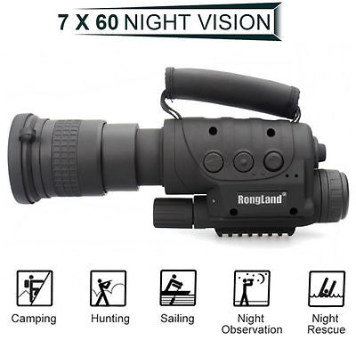 New Arrival Rongland Infrared Night Vision IR HQ Monocular Telescope DVR Record