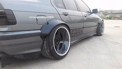 Fender Flares Rocket Bunny Style for BMW E36 Sedan premium sheet metal 1/32""