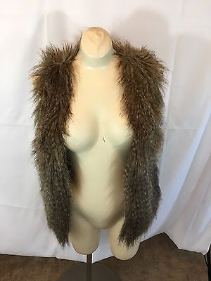 Divided Womens Size 6 Brown Faux Fur Vest Mint Condition