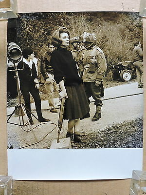 The Longest Day orig candid photo of Irina Demick with a gun 1962