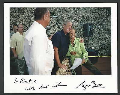 President George W. Bush Signed 8x10 White House Photo to Katie Couric, JSA LOA