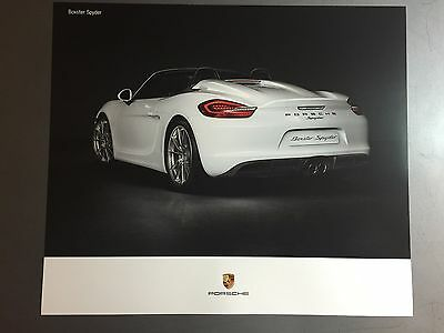 2016 Porsche Boxster Spyder Showroom Advertising Sales Poster RARE Awesome L@@K