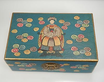 Vintage Chinese Hand Painted Wood Box