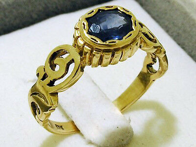 C251 Genuine 9ct Solid Yellow Gold NATURAL Sapphire Solitaire Ring in your size