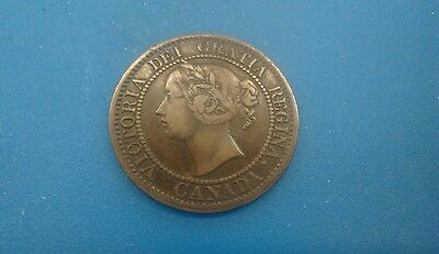 1859 Canada Large Cent -. Vf