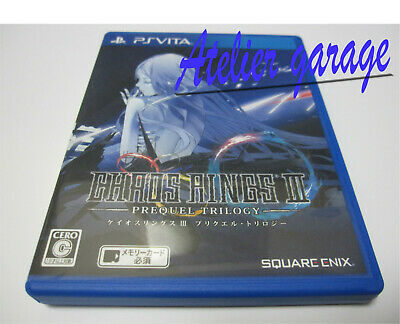 W/Tracking 7-14 Days to USA. USED Vita CHAOS RINGS III PREQUEL TRILOGY Japanese