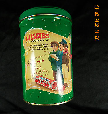 Life Savers Holiday Keepsake tin Limited Edition 1990 Empty