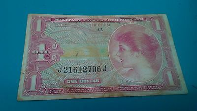 MPC Series 641 $1Military Payment Certificate  one dollar note US army .XF