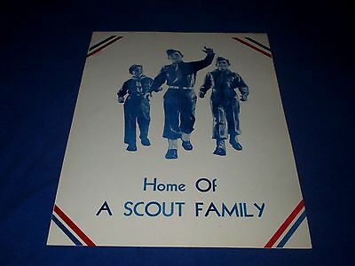BOY SCOUTS-HOME OF A SCOUT FAMILY-ORIGINAL 1950s ERA WINDOW SIGN POSTER