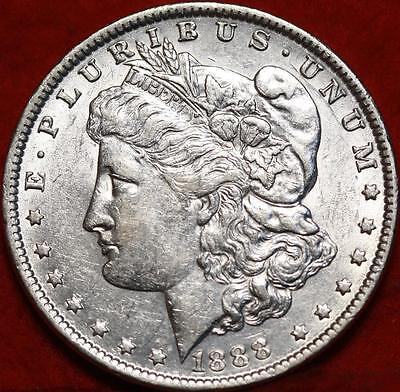 Uncirculated 1888 Philadelphia Mint Silver Morgan Dollar Free S/H