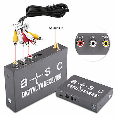 Mini Car Digital TV Signal Receiver Box Analog Tuner Antenna Remote Controller