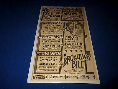 Cab Calloway-In Person-Loew's Parade Of Stars-New York City-1934 Large Print Ad
