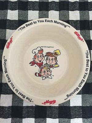 1995 KELLOGG'S Collectible Melamine Cereal Bowl SNAP, CRACKLE, POP