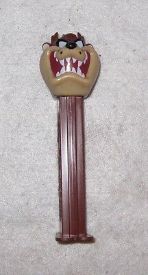 PEZ Dispenser - Looney Tunes - Tazmanian Devil - Brown Stem 5 in. 1995 Hungary