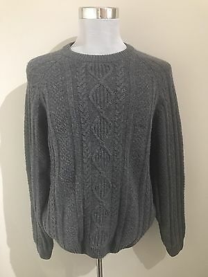 Rodd And Gunn Men's Grey Jumper - 100% Extra Fine Lambswool - Size XL