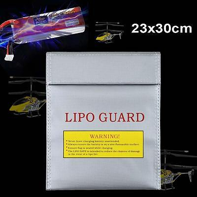 RC Fireproof LiPo Li-Po Battery Safety Charging Bag 230 x 300mm Silver Large SS
