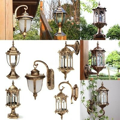 5 Style Outdoor Exterior Wall Post Lighting Sconce Hanging Landscape Garden Lamp
