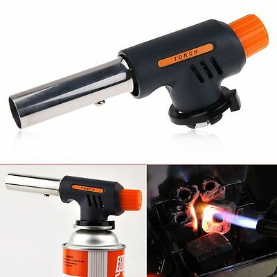 Butane Flame Gas Torch Auto Lgnition Soldering BBQ Burner Lamp Butane Welding