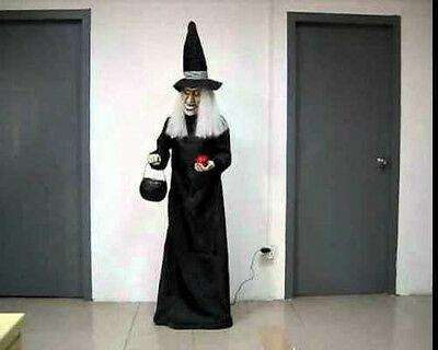 Animated Life Size 5ft Standing Witch Halloween Prop Watch Video!