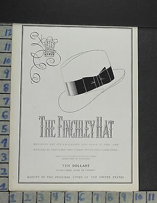 1930 Fashion Men Hat Finchley Design Style Accessory Vintage Ad Cp38