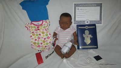 RealCare Baby Think It Over Doll G6 Gen 6 African Black Girl Female + Extras