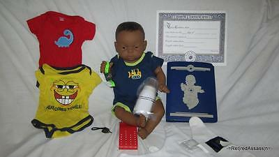 NICE RealCare Baby Think It Over Doll G6 Gen 6 Black African Boy Male Extras