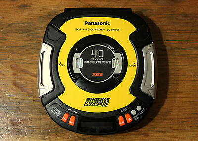 Panasonic SL-SW505 SHOCKWAVE Portable CD Player - Rugged, Excellent Cond - Japan