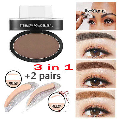 3 In1 Natural Eyebrow Powder Makeup Brow Stamp Delicated Shadow Definition JUST