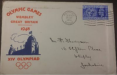 GB 1948 Olympic Games 2 1/2d FDC