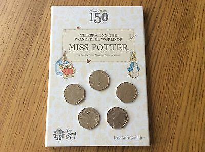 2016 Beatrix Potter Royal Mint 50p Coin Album Complete with Set of Coins RARE