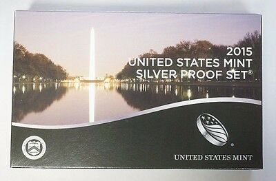 2015 United States Mint Silver Proof Set in OGP with COA All 14 Gem Coins Sealed