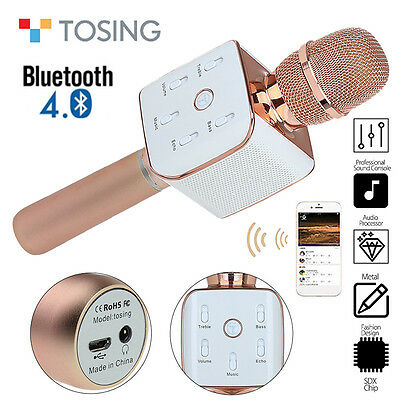 Original Tosing Teana2 Bluetooth Protable KTV Microphone RoseGold for IOSAndroid