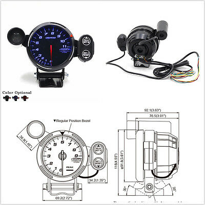 35 tachometer gauge kit blue led car meter with shift light 35 tachometer gauge kit blue led car meter with shift light stepping motor publicscrutiny Image collections