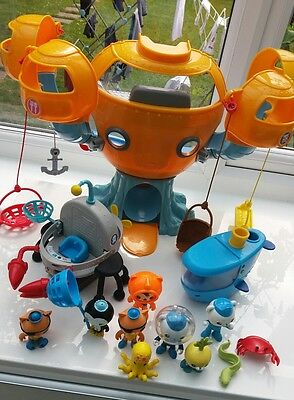 ++ GREAT octonauts bundle 10 characters 2 vehicules + octopod - overall very gd+
