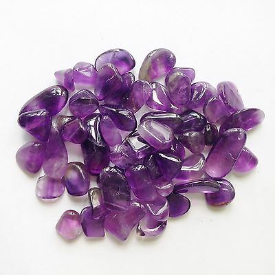 50 x Amethyst 8-11mm Polished Natural Tumblestone Gemstone Crystals Wholesale