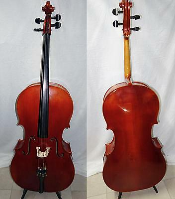 4/4 Benedikt Lang Cello Amazing Tone VG Condition Solid Maple Watch Video + bow