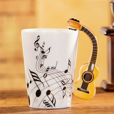 Funny Guitar Personality Music Note Cup Ceramic Coffee Tea Milk Novelty Mug Gift