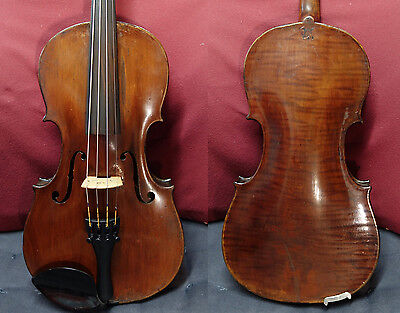 4/4 E Martin Sachsen Violin Amati Copy c 1900 Old Fine Amazing Tone Watch Video
