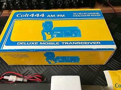 Colt 444 Am/fm Cb Radio 120 Channels, Boxed With Manual