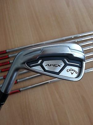 Lh Callaway Apex Cf 16 Irons 2017 Pw/4 Kbs Tour 90 Stiff Left Hand
