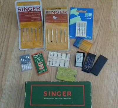 Vintage Singer Sewing Machine 201K Accessories Box With Some Mixed Needles Etc