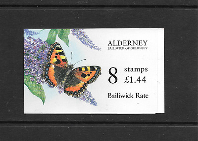 ALDERNEY 1997 Butterfly Bailiwick Rate - £1.44 Booklet - ASB 3