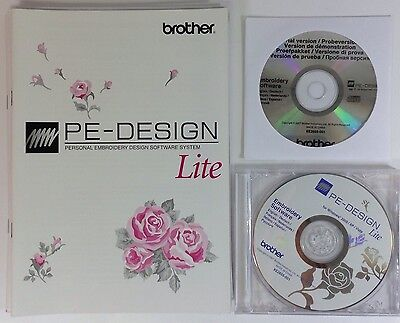 Brother PE Design Lite - Embroidery Digitizing Software - NO Card or Writer Box