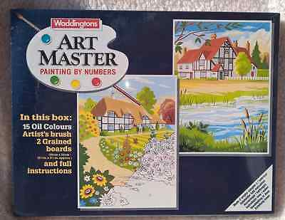 Waddingtons Art Master Oil Painting by Numbers 'Cottages' SEALED BOX 1987