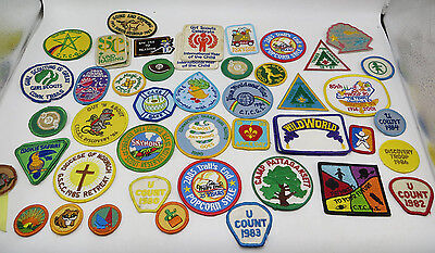 Girl Scout Bulk Lot of 47 Patches and Merit Badges