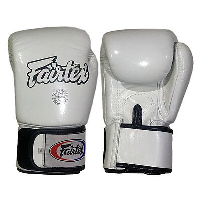Fairtex BGV1 Tight Fit Universal Muay Thai / Boxing Gloves White